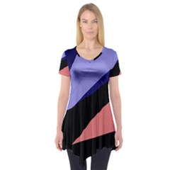Purple and pink abstraction Short Sleeve Tunic