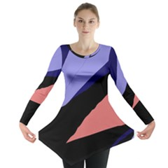 Purple and pink abstraction Long Sleeve Tunic