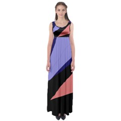 Purple And Pink Abstraction Empire Waist Maxi Dress