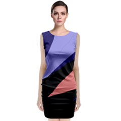 Purple And Pink Abstraction Classic Sleeveless Midi Dress