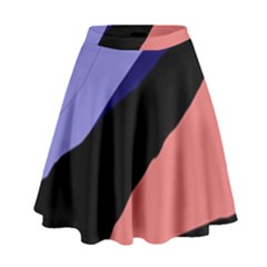 Purple and pink abstraction High Waist Skirt