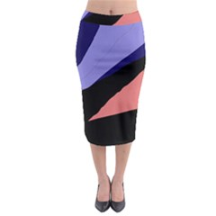 Purple and pink abstraction Midi Pencil Skirt