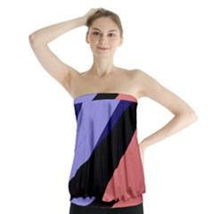 Purple and pink abstraction Strapless Top
