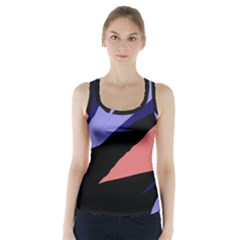 Purple And Pink Abstraction Racer Back Sports Top