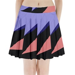 Purple And Pink Abstraction Pleated Mini Mesh Skirt(p209)