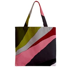 Colorful abstraction Zipper Grocery Tote Bag