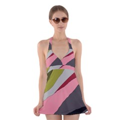 Colorful abstraction Halter Swimsuit Dress