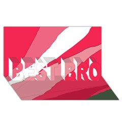 Pink abstraction BEST BRO 3D Greeting Card (8x4)
