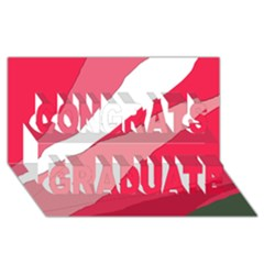 Pink abstraction Congrats Graduate 3D Greeting Card (8x4)