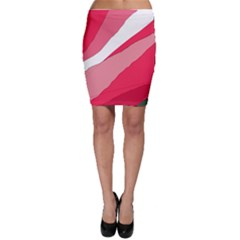 Pink abstraction Bodycon Skirt