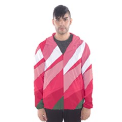 Pink abstraction Hooded Wind Breaker (Men)