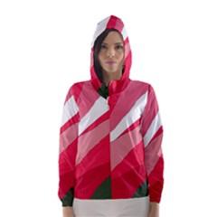 Pink abstraction Hooded Wind Breaker (Women)