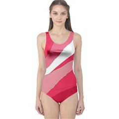 Pink abstraction One Piece Swimsuit