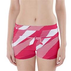 Pink Abstraction Boyleg Bikini Wrap Bottoms