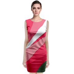 Pink abstraction Classic Sleeveless Midi Dress