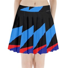 Colorful abstraction Pleated Mini Mesh Skirt(P209)