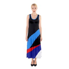 Colorful abstraction Sleeveless Maxi Dress