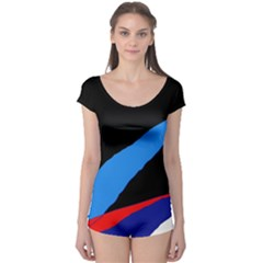 Colorful abstraction Boyleg Leotard