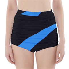 Colorful abstraction High-Waisted Bikini Bottoms