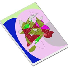 Flora abstraction Large Memo Pads