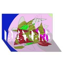 Flora abstraction BEST BRO 3D Greeting Card (8x4)