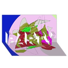 Flora abstraction PARTY 3D Greeting Card (8x4)