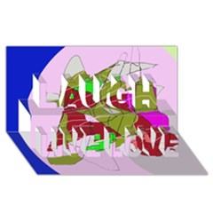 Flora abstraction Laugh Live Love 3D Greeting Card (8x4)