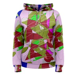 Flora abstraction Women s Pullover Hoodie