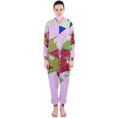 Flora abstraction Hooded Jumpsuit (Ladies)