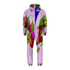 Flora abstraction Hooded Jumpsuit (Kids)
