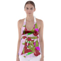 Flora abstraction Babydoll Tankini Top