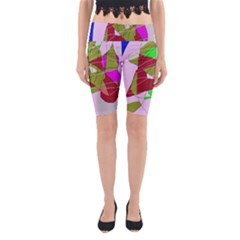Flora abstraction Yoga Cropped Leggings