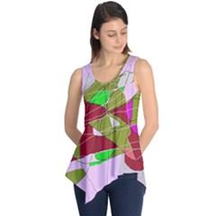 Flora abstraction Sleeveless Tunic