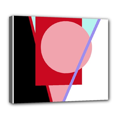 Decorative geomeric abstraction Deluxe Canvas 24  x 20