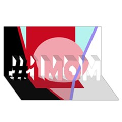 Decorative geomeric abstraction #1 MOM 3D Greeting Cards (8x4)