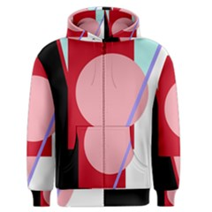 Decorative geomeric abstraction Men s Zipper Hoodie