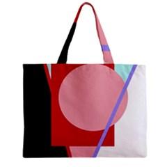 Decorative geomeric abstraction Zipper Mini Tote Bag