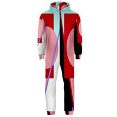 Decorative geomeric abstraction Hooded Jumpsuit (Men)