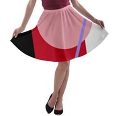 Decorative geomeric abstraction A-line Skater Skirt