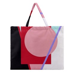 Decorative geomeric abstraction Zipper Large Tote Bag