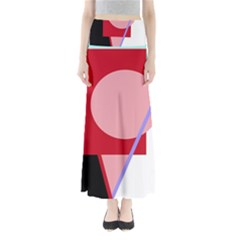Decorative geomeric abstraction Maxi Skirts