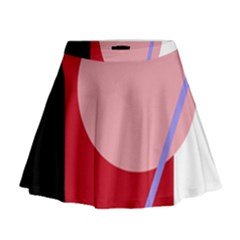Decorative geomeric abstraction Mini Flare Skirt