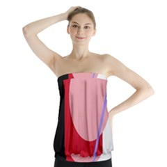 Decorative geomeric abstraction Strapless Top