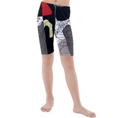 Decorative abstraction Kid s Mid Length Swim Shorts