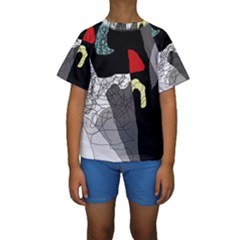 Decorative abstraction Kid s Short Sleeve Swimwear
