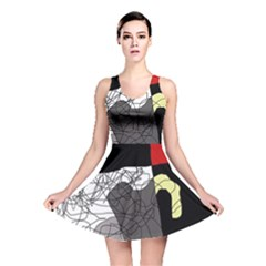 Decorative abstraction Reversible Skater Dress