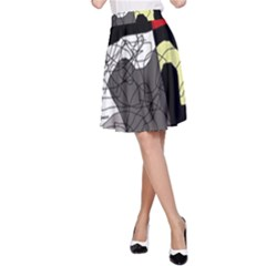 Decorative abstraction A-Line Skirt