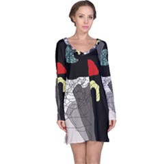 Decorative abstraction Long Sleeve Nightdress