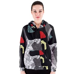 Decorative abstraction Women s Zipper Hoodie
