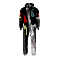 Decorative abstraction Hooded Jumpsuit (Kids)